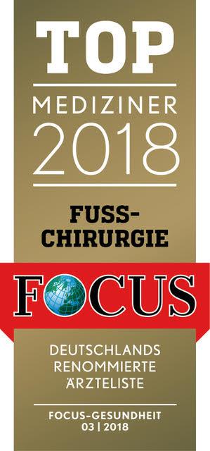 Top-Mediziner 2016 - Fuss-Chirurgie